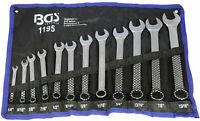 """Jeu de 12 clés plates mixtes fourche œil en pouces de 1/4"""" à 15/16"""" US GB"""