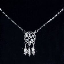 18k white gold crystal snowflake arrow feather star pentagram pendant necklace s