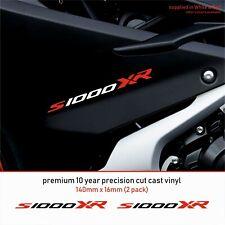 BMW S1000XR 10 YearCastVinyl Decals Stickers x 2-Premium ANY 2 COLOURS