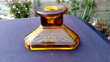 "L. E. Smith Amber Romanesque 2½"" Candlestick (Single)"