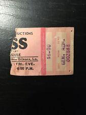 Kiss Concert Ticket Stub Warehouse New Orleans 3-12-76