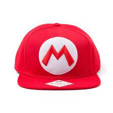 OFFICIAL NINTENDO SUPER MARIO BRO'S MARIO RED SNAPBACK CAP (BRAND NEW)