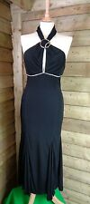 Karen Millen Stylish Clingy Designer Party/Little Black Dress Halterneck - 10UK