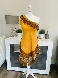 Brand New Adult Ladies Pocahontas Fancy Dress Costume Sexy Film Character
