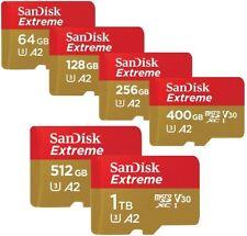 SanDisk Extreme 32GB 64GB 128GB 256GB 400GB 512GB 1TB microSDHC microSDXC SD LOT