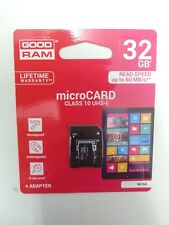 SCHEDA MEMORIA Good Ram MICRO SD 32 GB CLASSE 10 per SAMSUNG GALAXY S8 PLUS