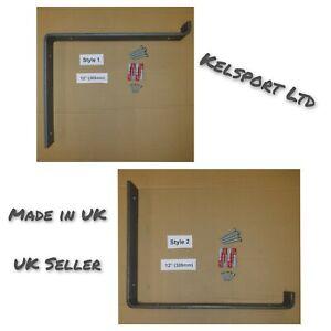 Heavy Duty Steel Scaffold Board Rustic Shelf Brackets 305mm 12 inch UK Made
