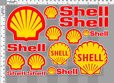 1 sh. vintage shell oil auto lube racing decal sticker vinyl die cut motor sport