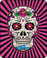 Queen Size Pink Black White Sugar Skull Mink Faux Fur Blanket Super Plush Gift!