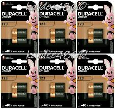 12 x Duracell CR123 High Power Lithium Battery DL123 Photo Camera New Exp.2029