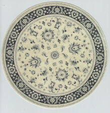 """1:12 Scale Dollhouse Round Oriental Area Rug 0001019 - approximately 8"""""""