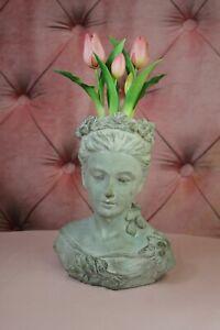 Heavier Clayre & Eef Flowerpot Ladies' Bust Garden 29cm 3,4kg New