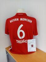 Bayern München Trikot, Thiago signiert Autogramm, Fußball, Bundesliga FCB Gr. XL