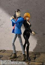 "Authentic Bandai S.H. Figuarts ""Lupin the Third + Fujiko Mine"" Set Action Figure"