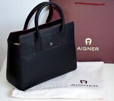 AIGNER Damen Tasche Leder black Modell: HELENA  Neu