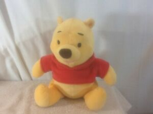 Adorable 2001 Plush Sitting With Red Shirt WINNIE THE POOH Fisher Price pre-own