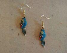 Papagei Ohrringe gold, türkis, petrol *Neu* Ohrhaken vergoldet, frei von Nickel