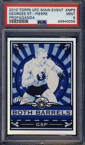 2010 Topps UFC Main Event Propaganda George's St. Pierre PSA 9 Low Pop 1 higher
