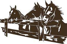 Horse Rodeo Western Fence Pasture Car Truck Window Laptop Vinyl Decal Sticker
