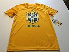 FIFA Soccer CBF Brasil Team Brazil Youth Gold T-Shirt, Large