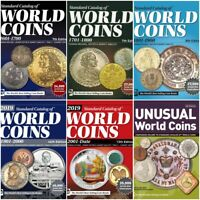 6 catalogues de monnaies du monde 1601-2019 DVD