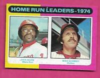 1975 TOPPS # 307 PHILLIES MIKE SCHMIDT LEADERS NRMT+  CARD (INV# A8277)
