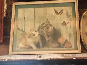 Antique Kitten Print