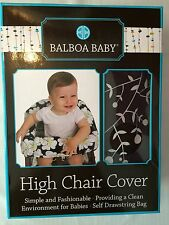 Balboa Baby High Chair Cover NIB Brown w/ White Leaves