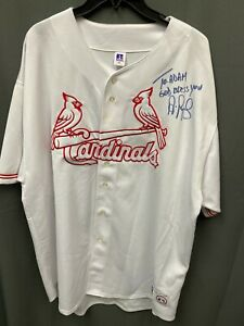 "Albert Pujols ""To Adam"" Signed Cardinals Baseball Jersey Autographed AUTO NO COA"