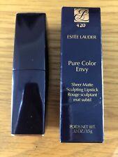 BNIB Estee Lauder Pure Color Envy Sheer Matte Lipstick. 420 Dark Edge Make Up.