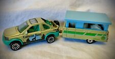 1998 Matchbox - Land Rover Freelander Car & Pop Up Camper - Scale 1:59 Diecast