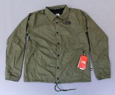 The North Face Men's Regular Fit Water Resistant Coach's Jacket KB8 Olive Medium