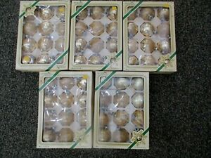 Vintage Gold Glass Christmas Ball Ornaments Lot Of 60
