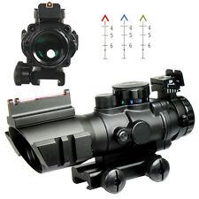 New Tactical 4X32 Optic Red/Green/Blue BDC Reticle Scope w/Fiber Optic Sight