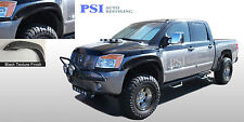 BLACK TEXTURED Pocket Flares Fits NISSAN TITAN 04-14 W/ BEDSIDE LOCKBOX ONLY