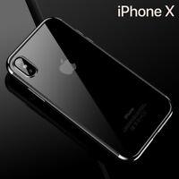 Housse Etui Coque Bumper Antichocs Case Cover  Apple iPhone X couleur Gris