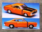 VALIANT VH CHARGER E38 R/T HEMI 1971 model diecast 1/24 TRAX SuperScale postcard