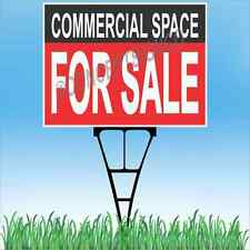"""18""""x24"""" COMMERCIAL SPACE FOR SALE Outdoor Yard Sign & Stake Lawn Real Estate"""