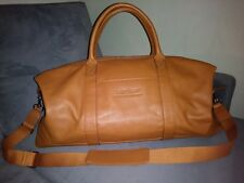 Leatherology Kessler Large Cognac Weekender Duffle Bag