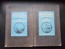 Buch Geographie f. höh. Lehranstalten E. v. Seydlitz Deutsches Reich Europa 1927