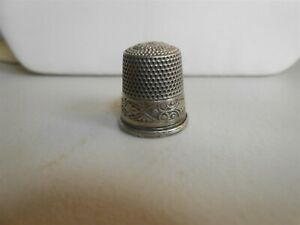 NICE SILVER ENGRAVED THIMBLE