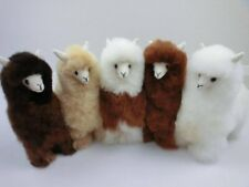 9 IN Handmade Alpaca Stuffed Animal Plush Alpaca Fur/  llama stuffed