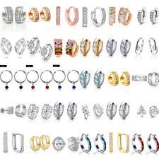 dfc4a9da5 Women Love Heart Cubic Zirconia Crystal Rhinestone Huggie Hoop Earrings  Jewelry