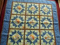 Quilt Vintage Lap Quilt Wall Quilt Bird of Paradise Quilt Wall Hanging Quilt