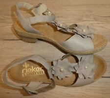 NEU !! Rieker !! Damen Sandale // Gr. 42 UK 8 // grau