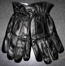 Black Leather FunFur(cotton) Lined Driving Gloves -Biker -Car Just keepin' Warm