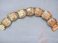 VINTAGE 925 Peruvian Watchband BRACELET STERLING PERU Silver Gift XMAS
