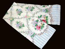 Martha Stewart FLORAL TRELLIS Stripes Tablecloth 60 x 84 Oblong Dtd 1999 NIP