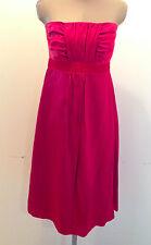Banana Republic Dress Strapless Red Silk Blend Size 4
