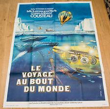Affiche de cinéma : LE VOYAGE AU BOUT DU MONDE de JACQUES-YVES COUSTEAU